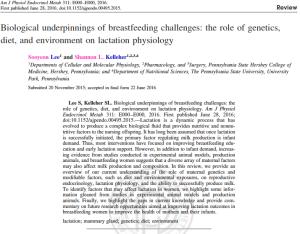 Biological underpinnings of breastfeeding challenges
