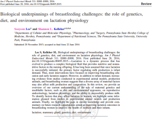 Biological underpinnings of breastfeeding challenges